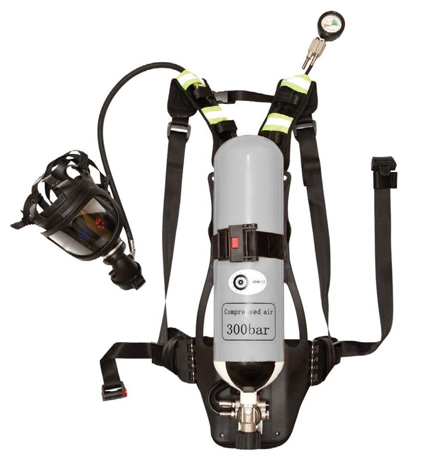 Autonominis 6 litrų suspausto oro kvėpavimo aparatas.