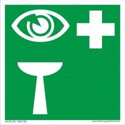 """Medicininės pagalbos saugos ženkas """"Akių praplovimo įtaisas""""."""