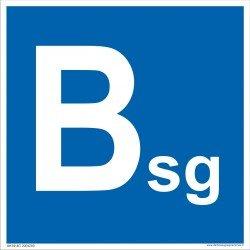 Patalpų kategorijos Bsg ženklas.