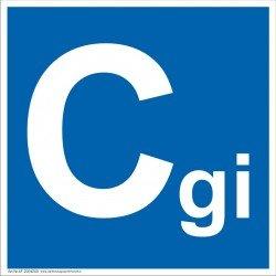 Patalpų kategorijos Cgi ženklas.