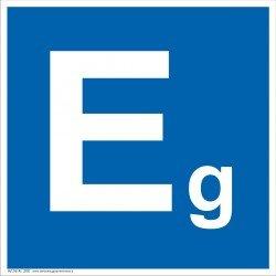 Patalpų kategorijos Eg ženklas.
