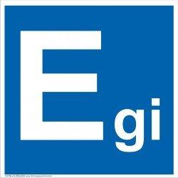 Patalpų kategorijos Egi ženklas.