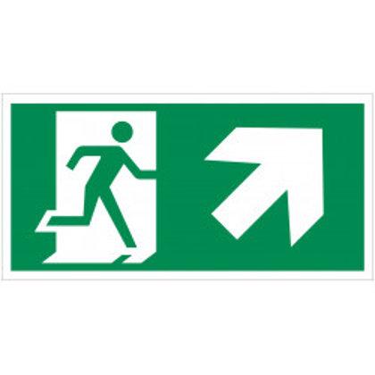 """Evakuacinis saugos ženklas """"Išėjimas aukštyn į dešinę"""""""
