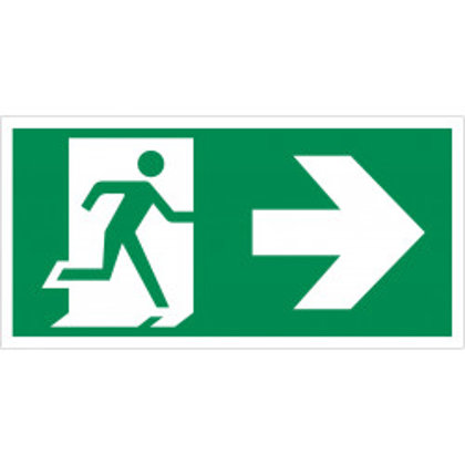 """Evakuacinis saugos ženklas """"Išėjimas į dešinę"""""""