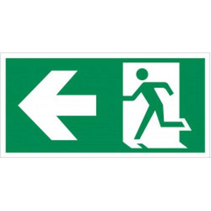 """Evakuacinis saugos ženklas """"Išėjimas į kairę"""""""