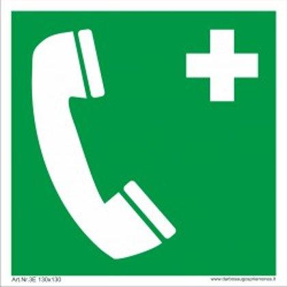 """Saugos ženklas """"Pagalbos telefonas"""""""